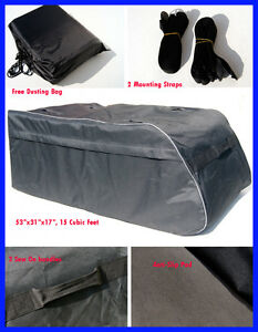 For Dodge Jeep Chrysler Roof Top Cargo Carrier Bag Side Rail Luggage Tour Sack
