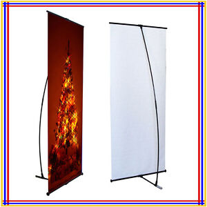 L Banner Stand W32 xh80 With Free Banner Printing L200