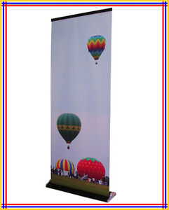 32 x79 Luxury Retractable Banner Stand black With Free Printing R380