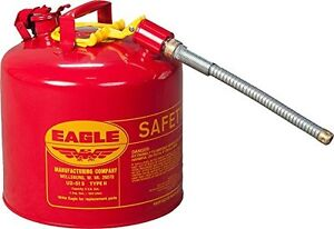 Eagle U2 51 s 5 Gallon Type Ll Galvanized Steel Safety Gas Gasoline Can W Spout