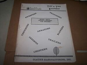 Olathe 866tg Wood Organic Tub Grinder Operator s Manual Parts List