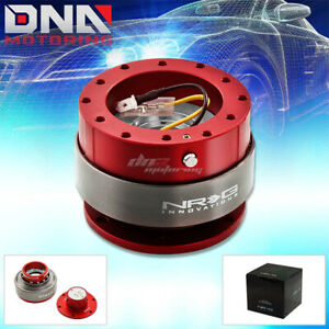 Nrg 6 hole Gen 2 0 Steering Wheel Quick Release Hub Jdm Red Body titanium Ring