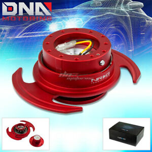 Nrg Gen 3 0 Racing Steering Wheel Quick Release Hub adapter Kit Red Body ring