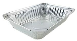 2 Lb Oblong Aluminum Foil Pan Take out Pan 50 pk Disposable Container Trays