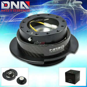 Nrg Gen 2 5 Steering Wheel Quick Release Hub Kit adapter Black Body Carbon Ring