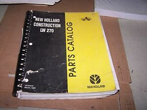 New Holland Lw270 Wheel Loader Parts Catalog Manual
