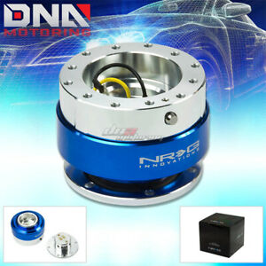 Nrg Gen 1 0 Quick Release Silver Body With Blue Ring Hub Kit 4 Steering Wheel