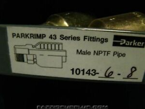2 parker Hydraulic Fitting 43 Series Fittings Male Nptf Pipe 10143 6 8