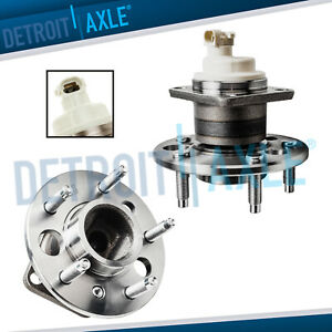 Both 2 New Rear Wheel Hub And Bearing Assembly For Gm W 4 wheel Abs Disc