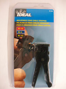 Ideal Adjustable Coax Cable Stripper 45 520 New