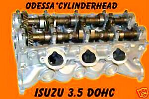 Isuzu Trooper Vehicross 3 5 Dohc V6 Cylinder Head Standard Fuel Injection Reman