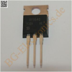 5 X Irf9640 P channel Trenchmos Transistor 0 50 Siliconix To 220 5pcs