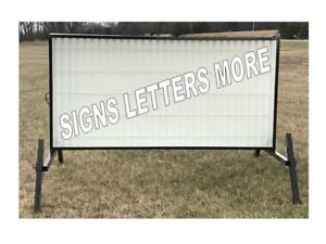 New Non Lighted Outdoor Portable Marquee Roadside Sign Message Area 4 x8