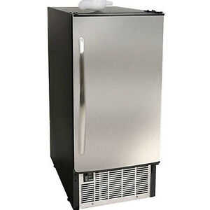 Edgestar Ib450ss Undercounter Ice Maker Built In 45 Lb Stainless Steel Machine