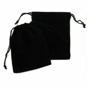 200 Black Velvet Drawstring Square Wedding Pouches Jewelry Gift Bag 3 X 3 5