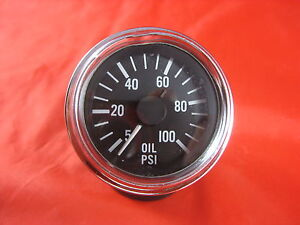Used Vintage Stewart Warner Oil Pressure Gauge 0 To 100 Made In The Usa