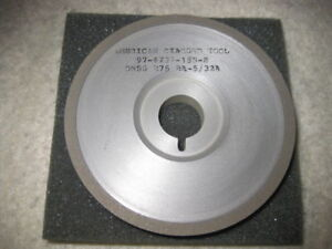 Diamond Grinding Wheel 15a9 Saucer 100mm Arbor Hole 80 Grit New Made In U s a