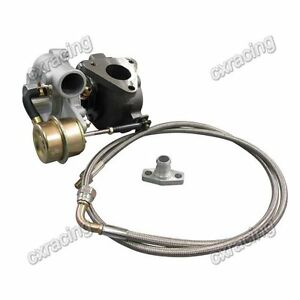 Cxracing Universal Gt15 T15 Turbo Charger 42 A r Compressor Oil Feed Line Kit