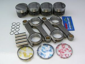 Nippon Racing Honda Civic P29 Zc Pistons Scat H Beam Rods D16a Oversized 75 50mm