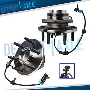 Pair 2 Front Wheel Hub Bearing For Chevy Silverado Gmc Sierra 1500 Hd 6 Lug 2wd