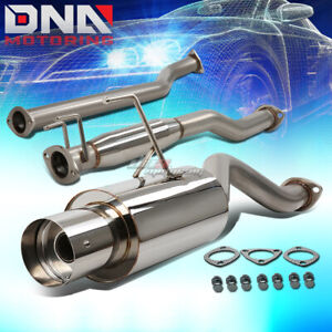 4 muffler Tip Stainless Steel Exhaust Catback System For 02 06 Rsx Dc5 Non s K20