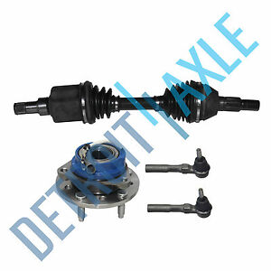 Front Passenger Cv Axle Shaft Wheel Hub And Bearing Assembly 2 Outer Tie Rod