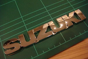 Suzuki Chrome Emblem Grand Vitara Samurai Caribian Forenza Badge