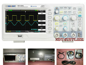 New Siglent 200mhz Sds1202dl Digital Storage Oscilloscope 2 Channels 1 Ext