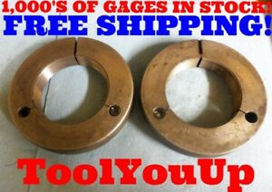 3 16 Ns 2 Thread Ring Gages 3 00 Go No Go P d s 2 9527 2 9594 Inspection