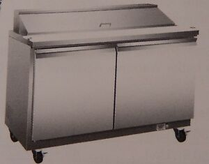 Sandwich Prep Cold Table By Serv ware model Sp60 8 S s 60 8 Pan
