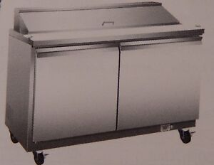 Sandwich Prep Cold Table By Serv ware model Sp48 12 S s 48 12 Pan