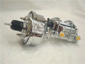 7 Street Hot Rod Power Brake Booster W Master Cylinder Chrome Brakes Custom Car