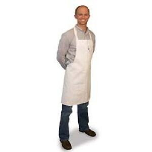 24 new White Chefs Commercial Grade Bib Apron P c Blend