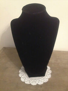 Black Velveteen Jewelry Retail Necklace Display Stand 9 1 2 Inches Tall New