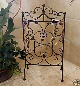 Iron Jewelry Stand Display Trellis Brown Holder