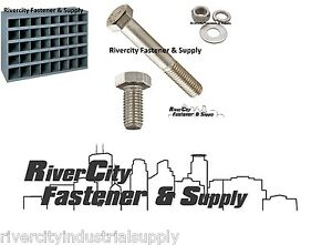 Stainless Steel Bolt Nut Washer Assortment kit 1496 With A Metal 40 Hole Bin