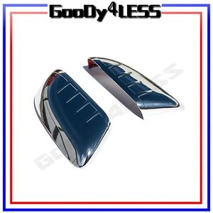 For 11 14 Ford Explorer Door Side Top Half Mirror Covers View Back Rear Abs