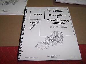 Kubota B200 Loader Backhoe Operator s Manual S n 570211001 Above