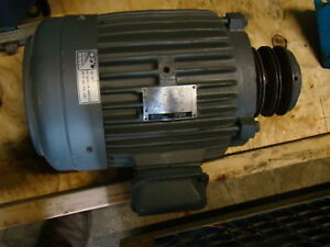 Ge 7 5hp Electric Motor 1755 rpm 213t 230 460v 5kez13bc205a