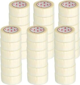 Clear Hotmelt Packing Packaging Tape 2 Inch X 55 Yards 165 3 Mil 36 Rolls