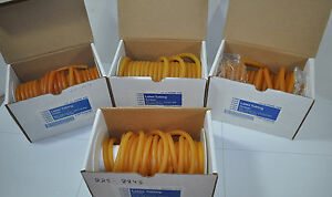 Lot Of 4 Partial Rolls Of Vwr Amber Latex Lab Tubing 3 Different Sizes