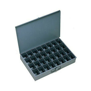 4 Large Metal 32 Compartment Hole Storage Tray s For Nuts Bolts