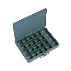 6 Metal 21 Compartment Hole Storage Tray s For Nuts Bolts Washers 204