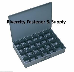 6 Metal 24 Compartment Hole Storage Tray s For Nuts Bolts Washers 202