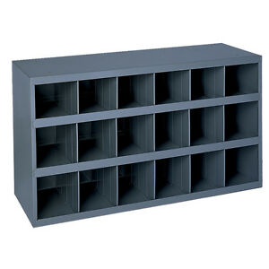 Metal 18 Compartment Slot Hole Storage Bin Cabinet 354