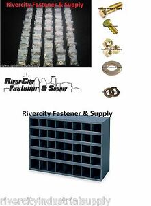 Grade 8 Fine Thread Bolt Nut Washer Assortment 1496 With A Metal 40 Hole Bin