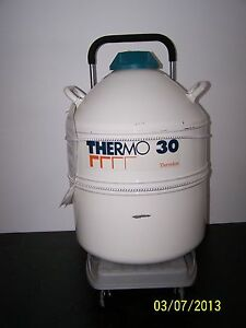Thermolyne Thermo 30 Cryogenic Sorage Vessel Includes Wheeled Cart