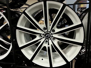 18 X 8 Inch 5363 White Diamond Wheels Rims Tires 5x114 3