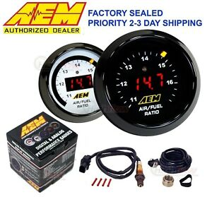 Genuine Aem 30 4110 Wideband Gauge Controller Afr O2 Air Fuel Ratio 2 1 16 52mm