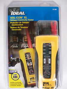 Ideal Vol con Xl Voltage Meter continuity solenoid Tester Wiggy New
